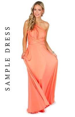 Sample Convertible Bridesmaid Dress Maxi - Peach