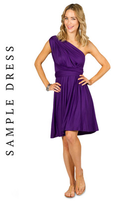 Sample Convertible Bridesmaid Dress Midi - Purple