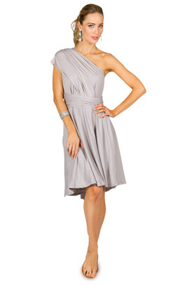 f08208cdaf0 Convertible Bridesmaid Dress Midi - Silver