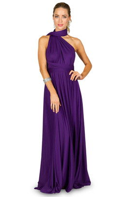 Convertible Bridesmaid Dress Maxi - Purple