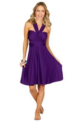 Convertible Bridesmaid Dress Midi - Purple