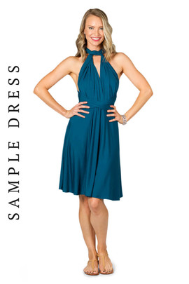 Sample Convertible Bridesmaid Dress Midi - Pacific Blue