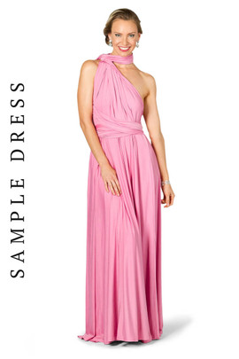 Sample Convertible Bridesmaid Dress Maxi - Pink