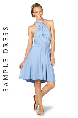 Sample Convertible Bridesmaid Dress Midi - Powder Blue