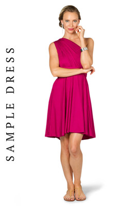 Sample Convertible Bridesmaid Dress Midi - Fuchsia