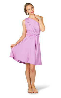 Convertible Bridesmaid Dress Midi - Lilac