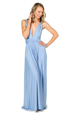 Convertible Bridesmaid Dress Maxi - Powder Blue