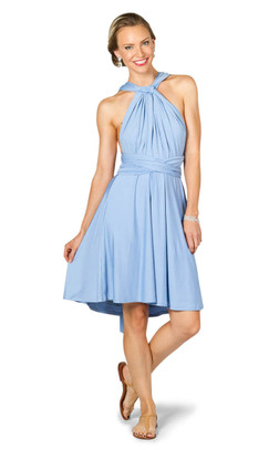 Convertible Bridesmaid Dress Midi - Powder Blue