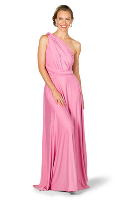 Convertible Bridesmaid Dress Maxi - Pink