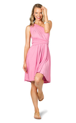Convertible Bridesmaid Dress Midi - Pink