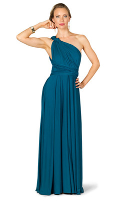 Convertible Bridesmaid Dress Maxi - Pacific Blue