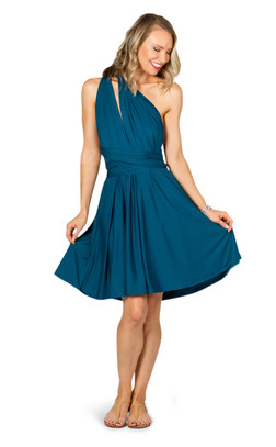 Convertible Bridesmaid Dress Midi - Pacific Blue