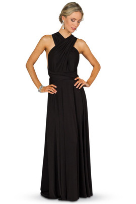 Convertible Bridesmaid Dress Maxi - Black