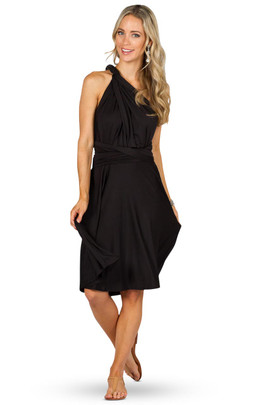 Convertible Bridesmaid Dress Midi - Black