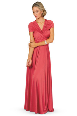 Convertible Bridesmaid Dress Maxi - Watermelon