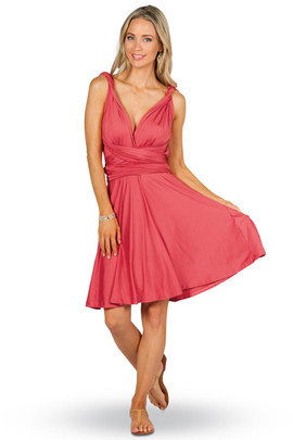 Convertible Bridesmaid Dress Midi - Watermelon