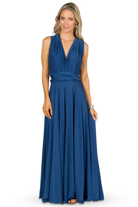 Convertible Bridesmaid Dress Maxi - Teal