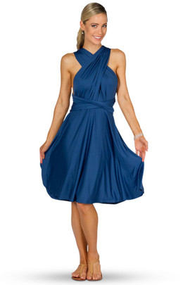 Convertible Bridesmaid Dress Midi -Teal