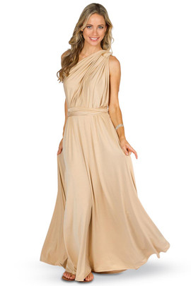 Convertible Bridesmaid Dress Maxi - Champagne