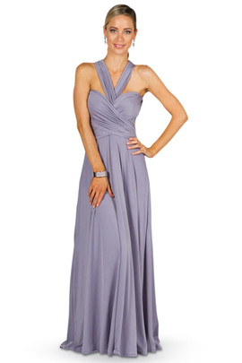 Convertible Bridesmaid Dress Maxi - Periwinkle