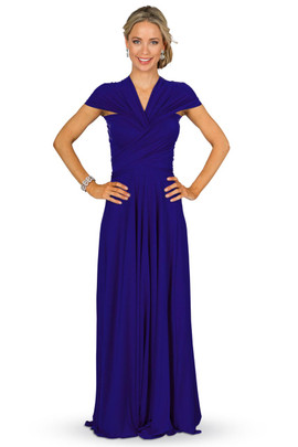 Convertible Bridesmaid Dress Maxi - Cobalt