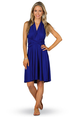 Convertible Bridesmaid Dress Midi - Cobalt