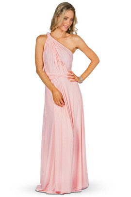Convertible Bridesmaid Dress Maxi - Pale Pink