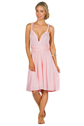 Convertible Bridesmaid Dress Midi - Pale Pink
