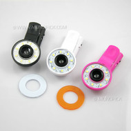 Universal Selfie Self-Lucent Fill Genie Lamp External Effects 0.67X Wide Angle Macro Clip Lens