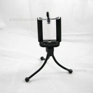 New Mini Selfie Flexible Metal Camera Tripod Stand with Clip Bracket Holder For Mobile Phones