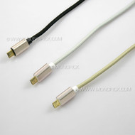 LOT 20CM/1M/2M micro USB Nylon USB 2A Fast Charge Data Sync Cable Cord for mobile phones