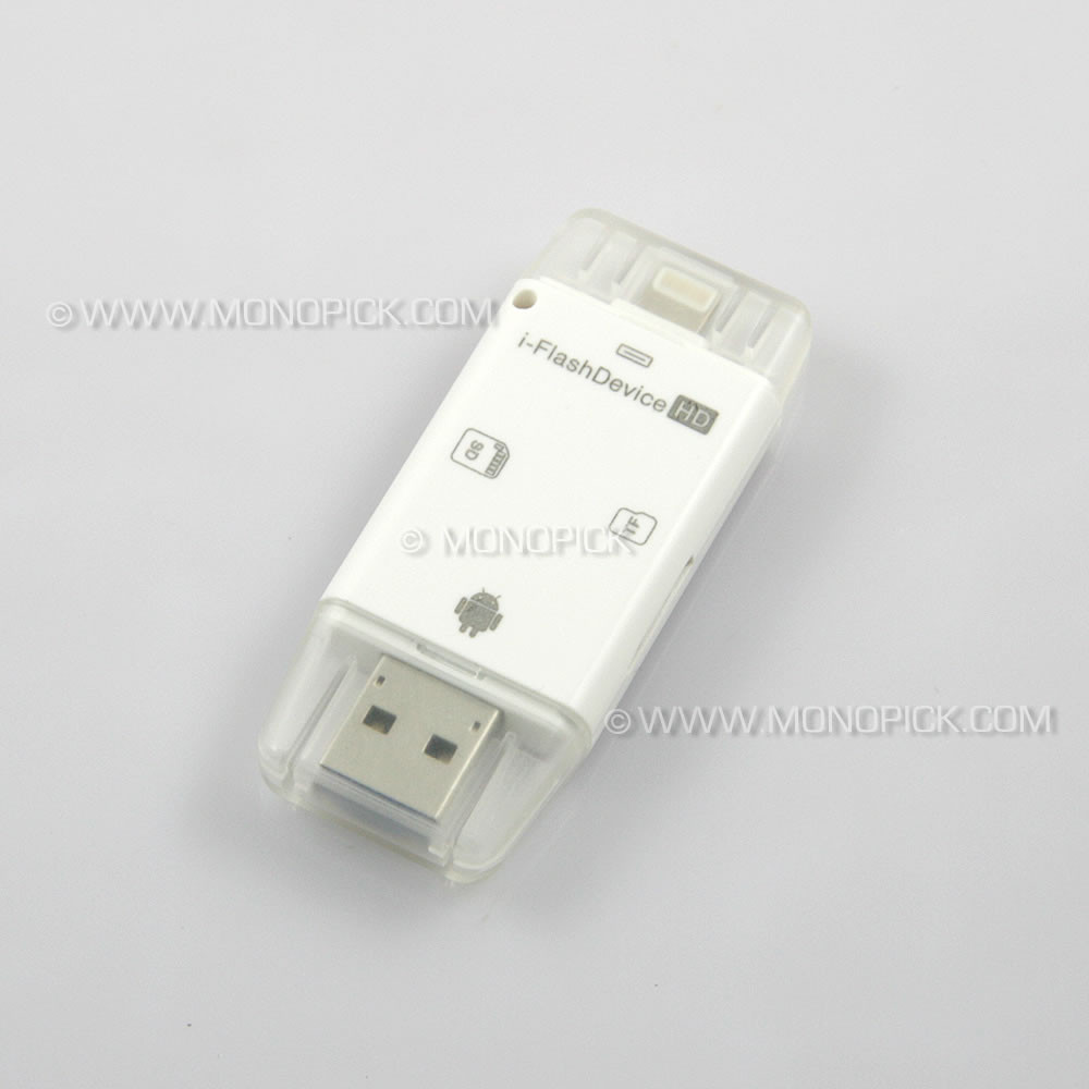 i-Flash Drive iFlash USB Device Micro SD Card Reader for iOS, Android  phones, tablets