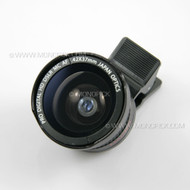 Universal HD 37mm 0.42X Fisheye Wide Angle Macro Lens with mobile clip mount holder Hood for phones
