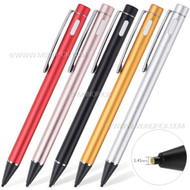 Ultra Thin Aluminum Metal Tip Capacitive Touch Screen Active Stylus Pencil Pen For mobile phones, tablets