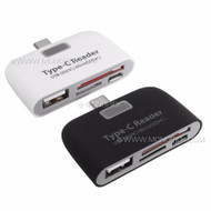 4in1 USB 3.1 Type C USB-C to USB micro USB 2.0 micro SD SDHC SDXC OTG Card Reader Adapter for Mobile Phone