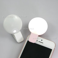 Selfie Portable Mini Clip On LED Fill Light Flash Camera Photo Ring for mobile phones