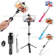 3in1 Selfie Stick Monopod Extendable Handheld Tripod Mount Wireless Bluetooth Remote Shutter Kit for mobile phones