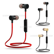 Sports Metal Wireless Bluetooth 4.0 Handsfree Stereo Earphones Headset Earbuds for mobile phone