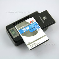 New Universal Big Removal Battery Travel USB Charger with LCD Screen Display for Mobile Phone