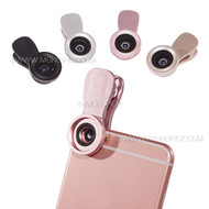 2in1 Universal Selfie 0.4-0.6X Wide Angle 15X Macro Clip On Selfie Camera Lens For Phones tablets