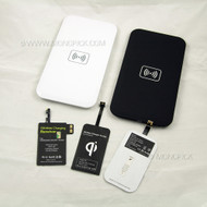 Universal QI Ready Wireless Rectangular Charging Charger Kit (Pad and Receiver) Module Coil for Samsung Galaxy Phones