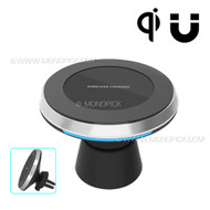 2in1 Magnetic In-Car Indoor Wireless Charger Pad 2A Fast Charging for Galaxy S8 Note 8 iPhone 8 Plus X