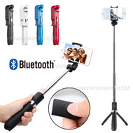 New 3in1 Selfie Stick Monopod Extendable Handheld Tripod Mount Wireless Bluetooth Remote Shutter Kit
