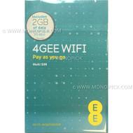 EE United Kingdom Europe 48 Countries 2GB/30 Days Data Prepaid Pay As You Go SIM