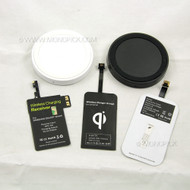 Universal QI Ready Wireless Circular Charging Charger Kit (Pad and Receiver) Module Coil for Samsung Galaxy Phones