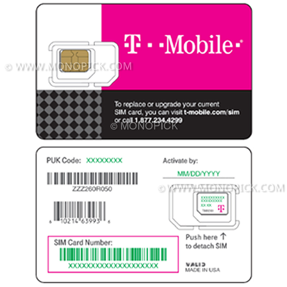 T Mobile Prepaid Starter Kit Unlimited 20 Days Usa Canada Mexico V