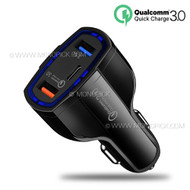 7A 35W 3 port USB Type C USB-C Quick Charge QC 3.0 Car Charger Power Adapter for mobile phones