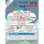 3HK Mainland China Hong Kong Macau Taiwan 5+5GB/365 Days V+Data PAYG Prepaid SIM