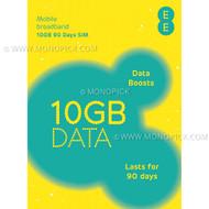 EE United Kingdom Europe 48 Countries 10GB/90Days Data Prepaid Pay As You Go SIM