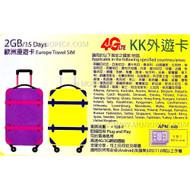 Multibyte Info KK Europe 50 Countries 2GB/15 Days Prepaid PAYG Data Roaming SIM
